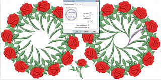 Wings Embroidery Software circular array tool