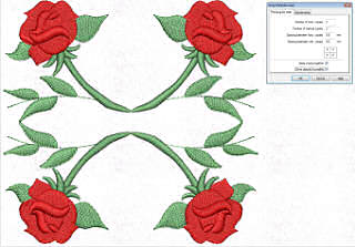 Wings Embroidery Software rectangular array tool